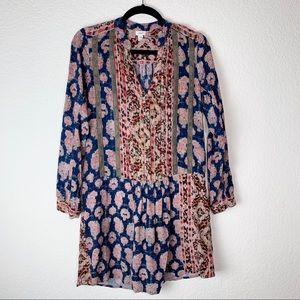 [Anthro- Tiny] Pattern drop waist dress Size-XS